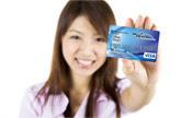 Girl Holind Credit Card